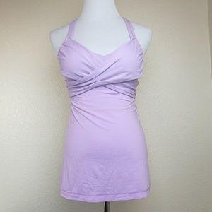 Lululemon Wrap It Up Yoga Tank Pretty Purple Sz 4